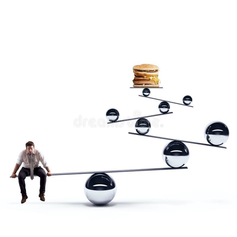 Diätbalance stockfotografie