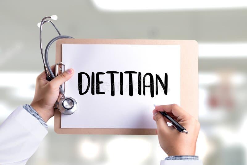 DIÄTETIKER- und Ernährungswissenschaftlerdoktor oder Diätetiker und Diätetiker Pro stockfotos