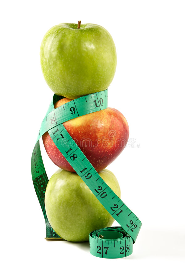 Diätetische Speisenäpfel stockfoto