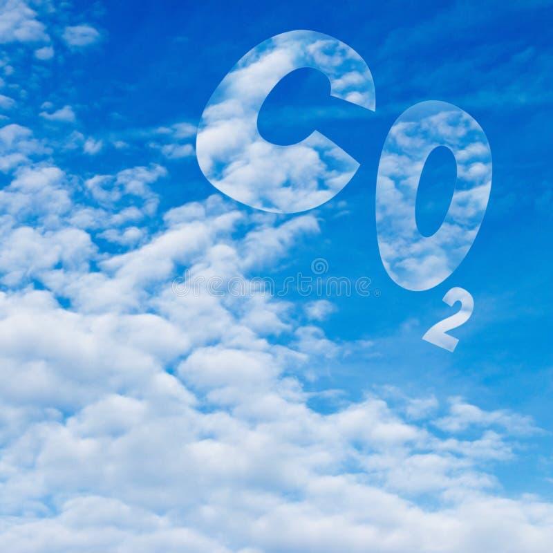 Dióxido de carbono ilustração royalty free
