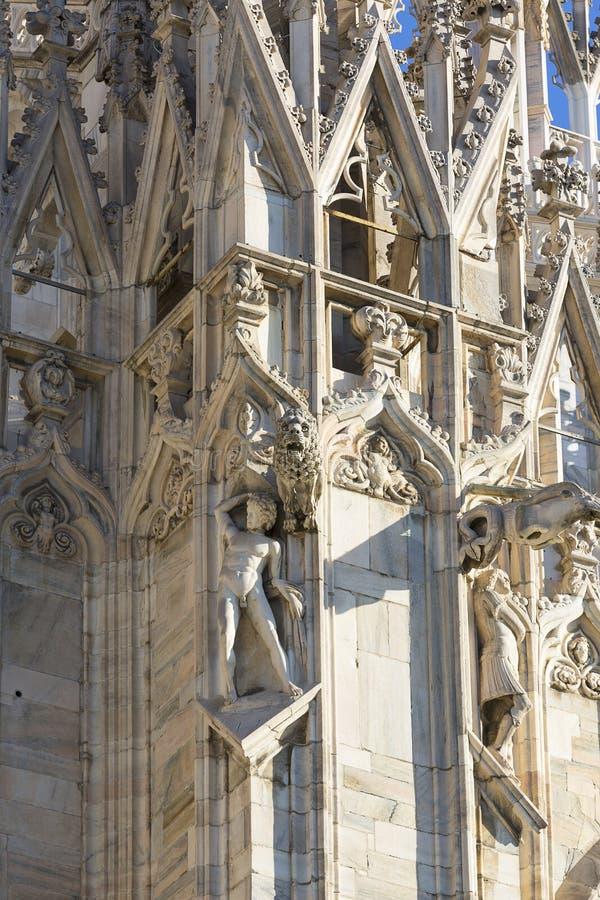 Di Μιλάνο, γοτθική εκκλησία, Μιλάνο, Ιταλία Duomo καθεδρικών ναών του Μιλάνου στοκ φωτογραφία
