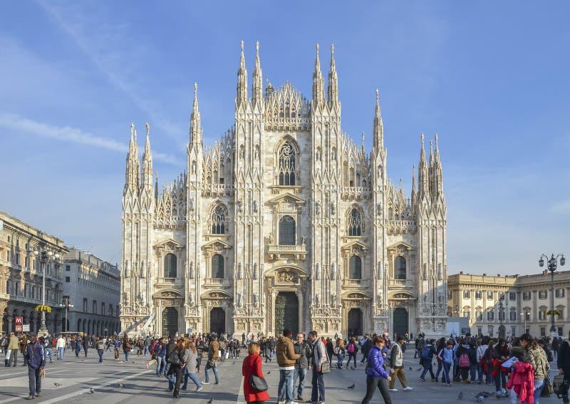 Di Μιλάνο, Ιταλία Duomo στοκ εικόνα
