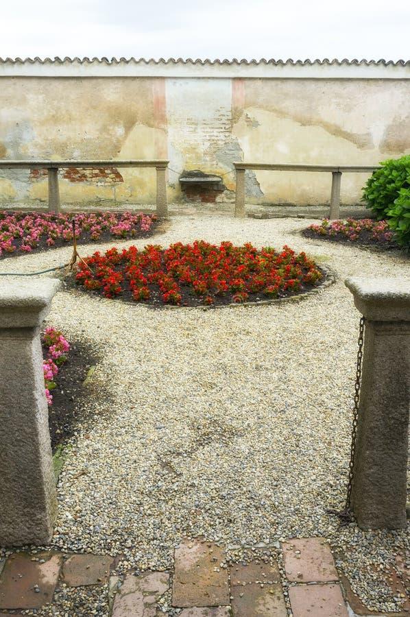 Di Παβία, εσωτερική λεπτομέρεια Certosa Εικόνα χρώματος στοκ φωτογραφίες