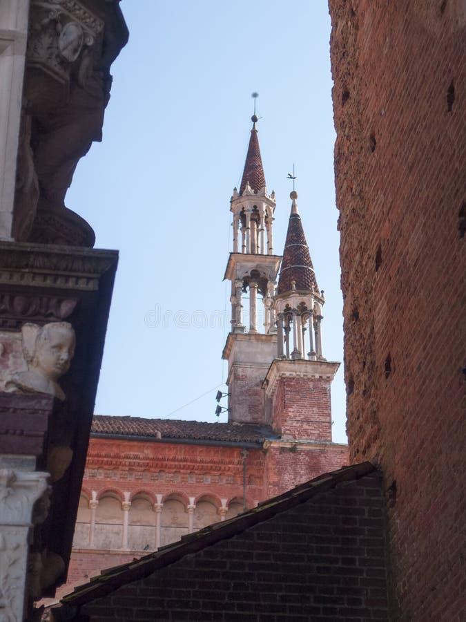 Di Павия Certosa Внешнее изображение церков, стоковое изображение