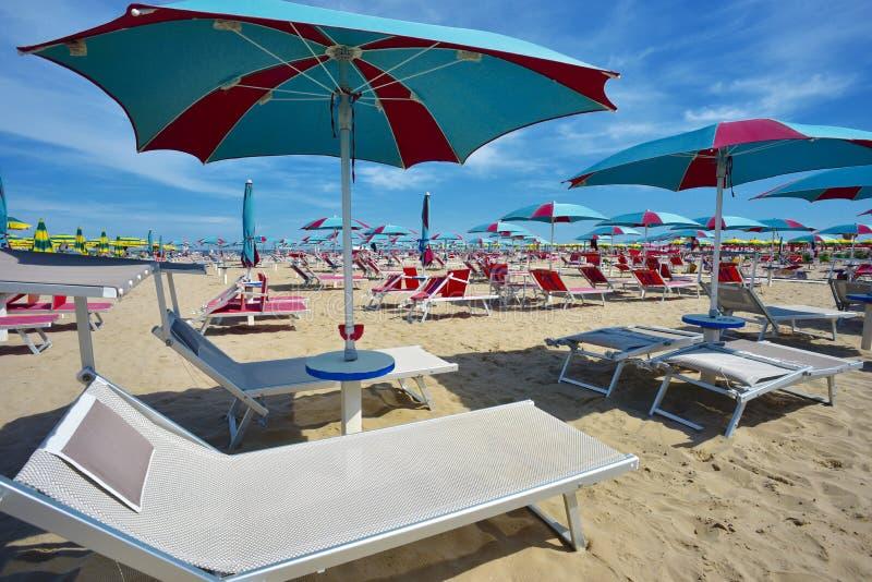 Di Римини Spiaggia, Италия стоковые фотографии rf
