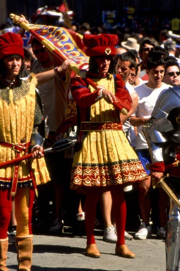 Di Сиена - июль 2003 Palio стоковое изображение rf