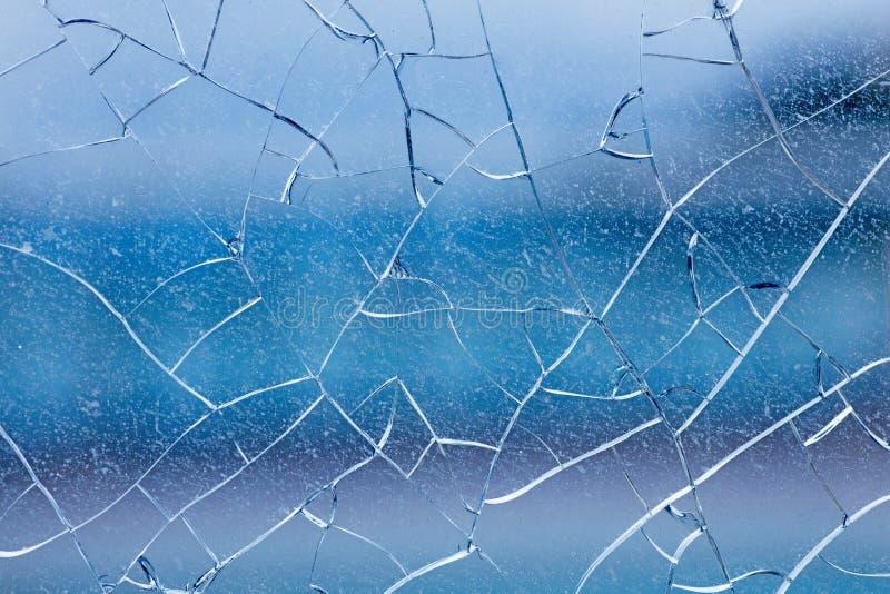 Di arti blu incrinato del fondo della finestra nei prodotti delle stampe di alta qualità fotografia stock