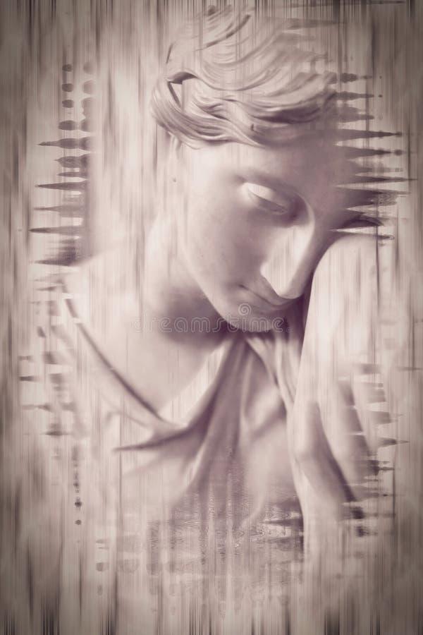 Di arti della statua della donna fotografie stock