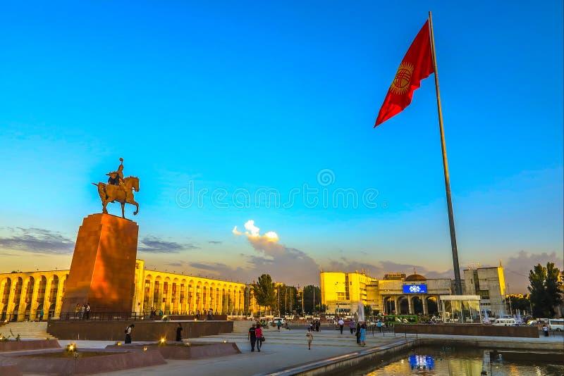 Di Biškek dell'ala quadrato 13 ugualmente fotografie stock libere da diritti