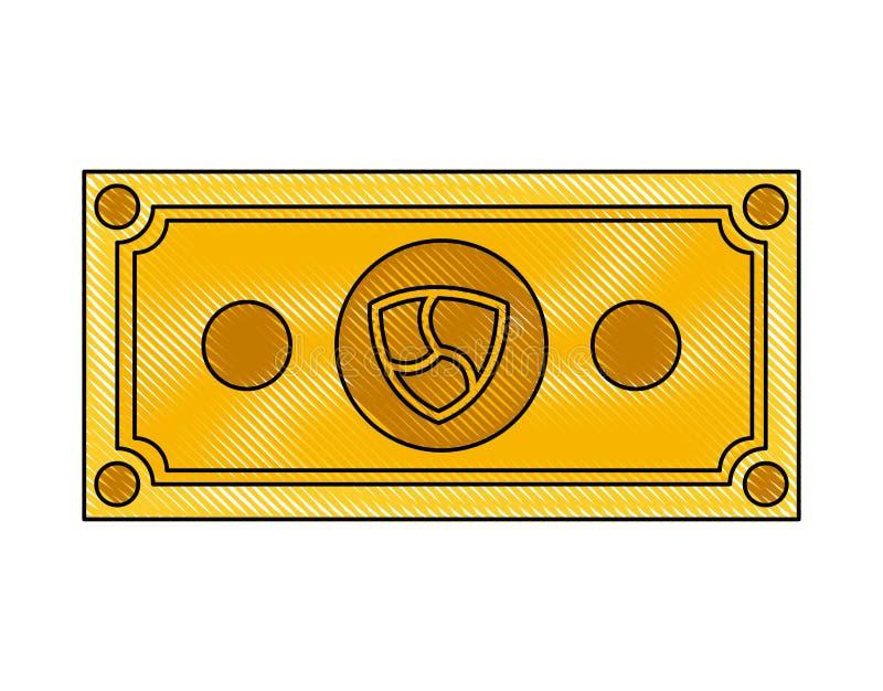 Di Bill icona di tecnologia di commercio all'unanimit? illustrazione di stock