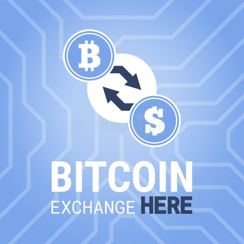 Di Bitcoin di scambio immagine qui sul fondo del chipset fotografia stock libera da diritti