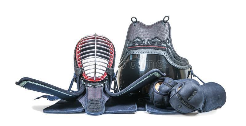 ` Di bogu del ` dell'attrezzatura protettiva per addestramento di recinzione giapponese di Kendo immagine stock