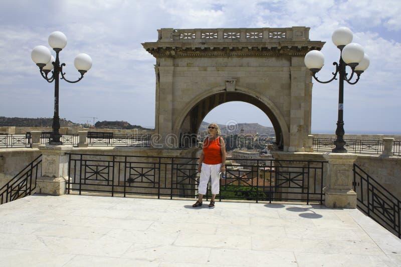 di Cagliari bastione remy święty obrazy stock