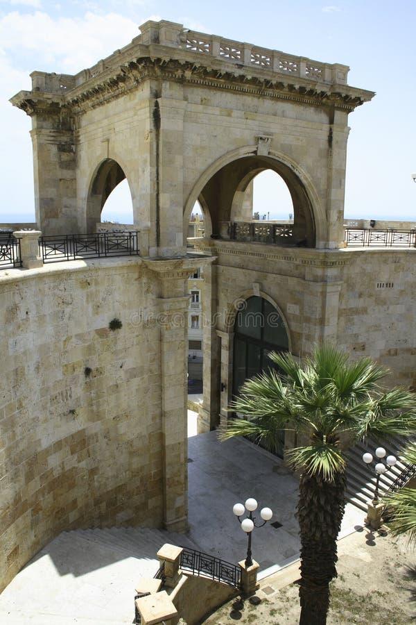 di Cagliari bastione remy święty zdjęcia stock