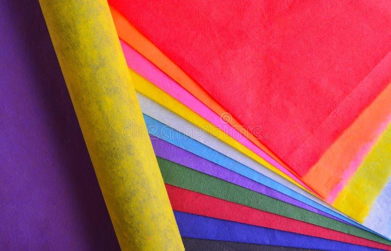 di carta colorata Multi del gelso con le strutture è usata come backgrou immagini stock