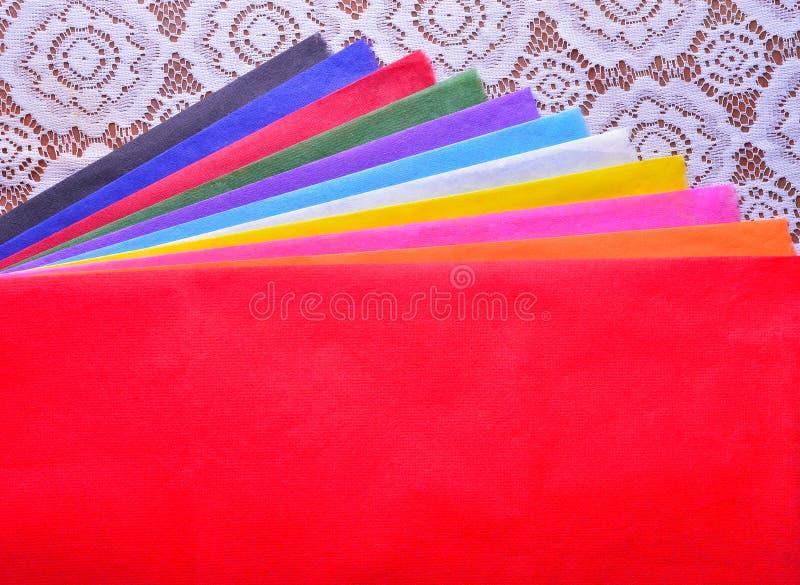 di carta colorata Multi del gelso con le strutture è usata come backgrou immagini stock libere da diritti