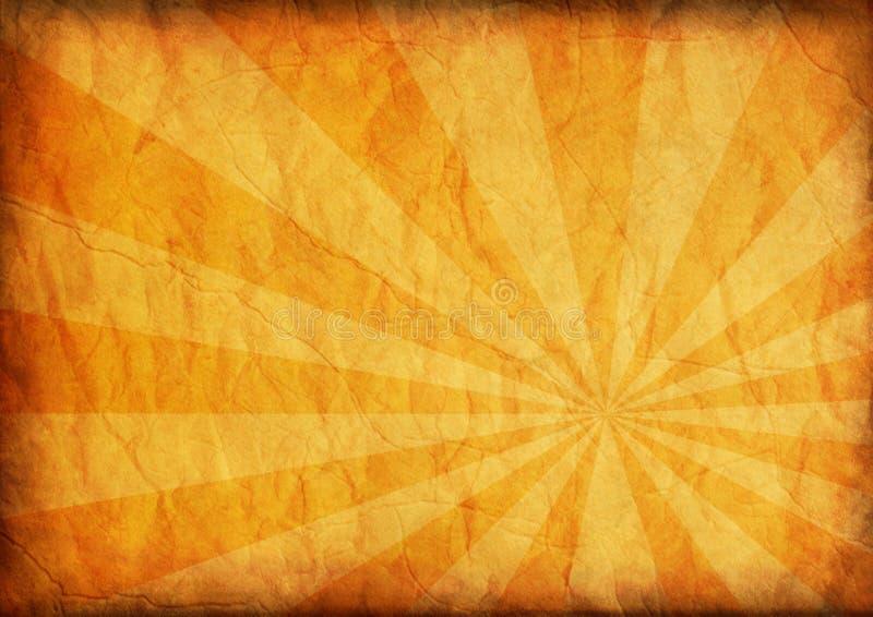 Di carta invecchiato con starburst astratto illustrazione vettoriale