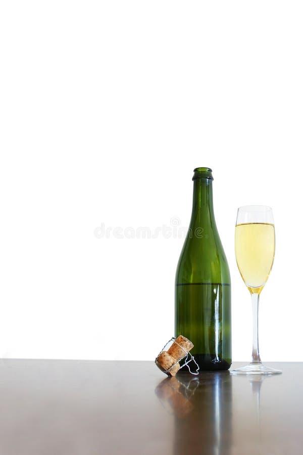 Di Champagne vita ancora immagine stock