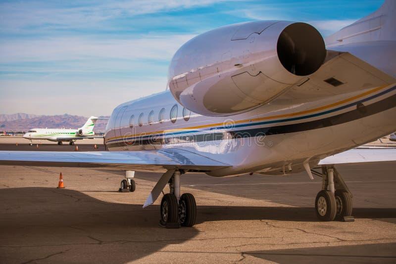 Di charter Jet Airplane fotografia stock