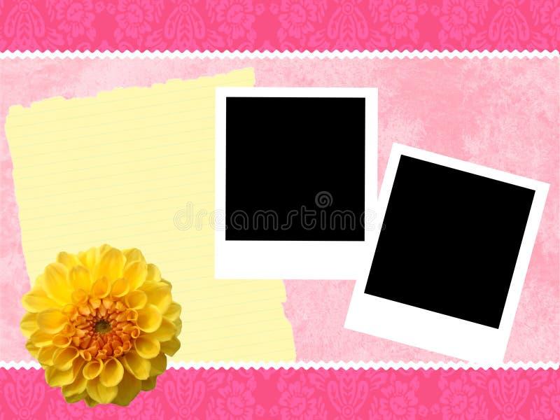 Di colore rosa struttura girly illustrazione vettoriale