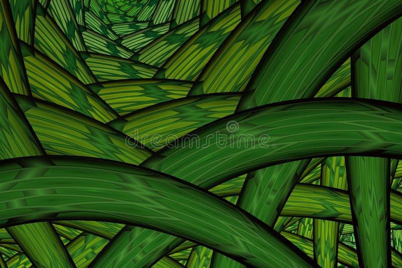 di corda variopinta aggrovigliata colorata Multi del filo Priorit? bassa astratta di frattalo royalty illustrazione gratis