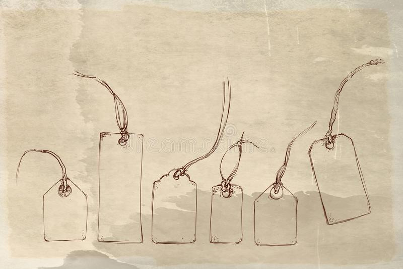 1736/5000 di cose, oggetti, vestiti, annata, uomo, immagini comiche, annata, automobili di anno della struttura 5o di bassoriliev illustrazione vettoriale