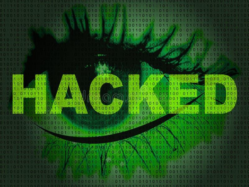 Di Cybersecurity del pirata informatico illustrazione di attacchi cyber online 2d illustrazione vettoriale