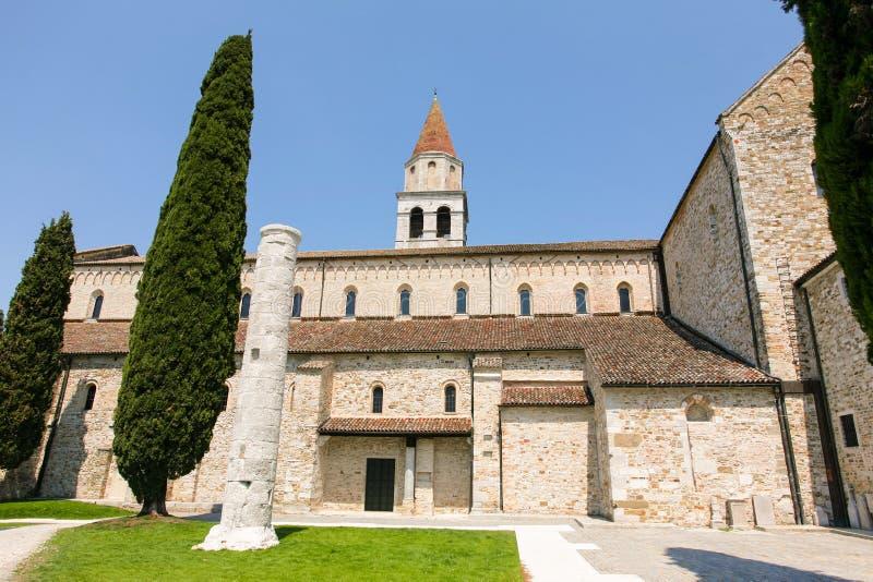 Di de basilique Santa Maria Assunta dans Aquileia image libre de droits
