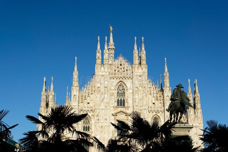 Di de Duomo Milan - Milan Dome Cathédrale antique en Italie du nord image stock