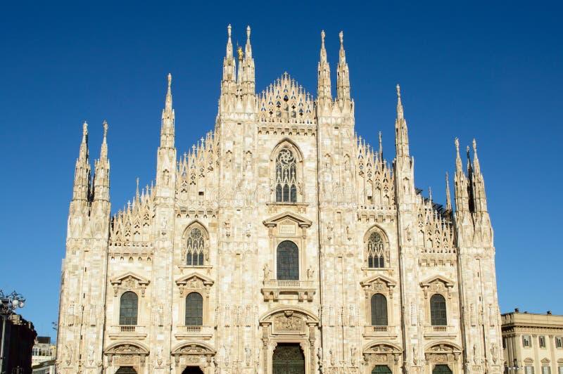 Di de Duomo Milan - Milan Dome Cathédrale antique en Italie du nord photos libres de droits