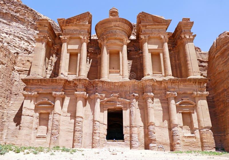 ` Di Deir dell'annuncio il ` nel PETRA, Giordania del monastero immagine stock libera da diritti