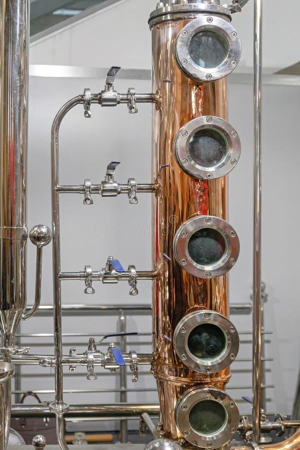 Di distillazione colonna ancora fotografia stock libera da diritti