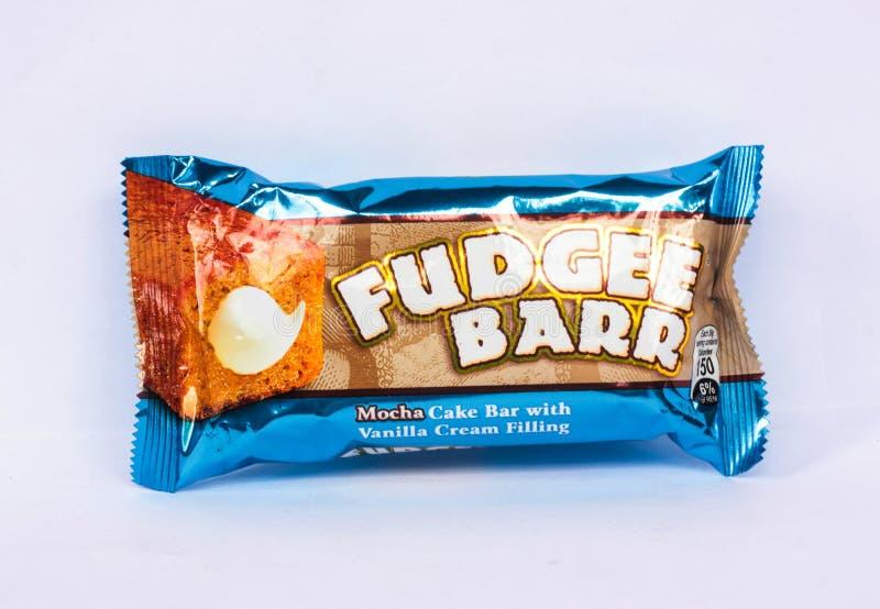 Di dolce ripieno di crema della vaniglia di Fudgee Barr Mocha fotografia stock libera da diritti