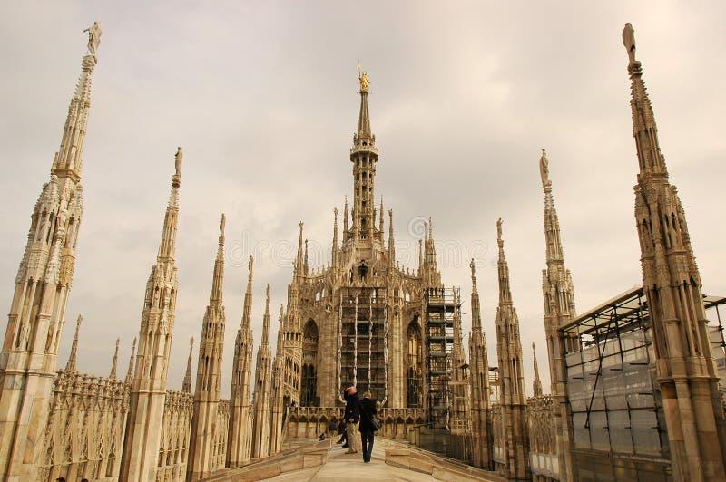 Di Duomo米兰 免版税库存照片
