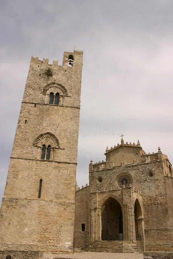 Di Duomo erice do kościoła zdjęcia stock