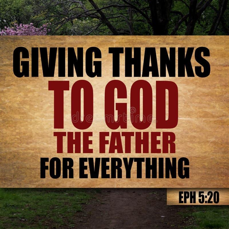 5:20 di Ephesians di ringraziamento immagini stock