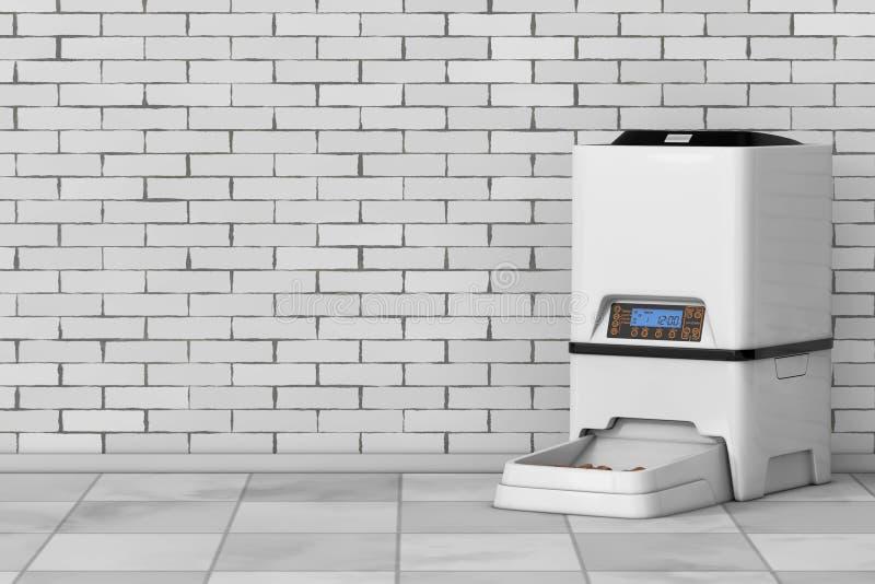 Di för förlagematare för mål för lagring för mat för automatiskt elektroniskt Digital husdjur torra royaltyfri illustrationer
