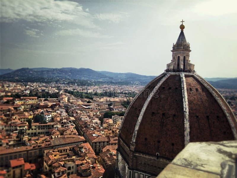 Di Firenze de Cúpula del Domo (a cúpula de Brunelleschi) foto de stock royalty free