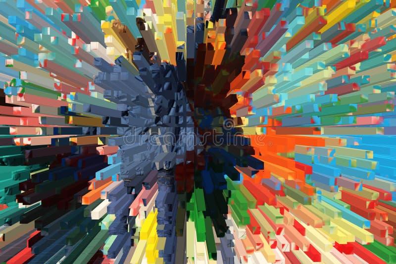 di fondo colorato Multi, bella astrazione del volume immagini stock libere da diritti