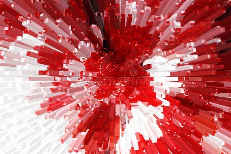 di fondo colorato Multi, bella astrazione del volume immagine stock libera da diritti