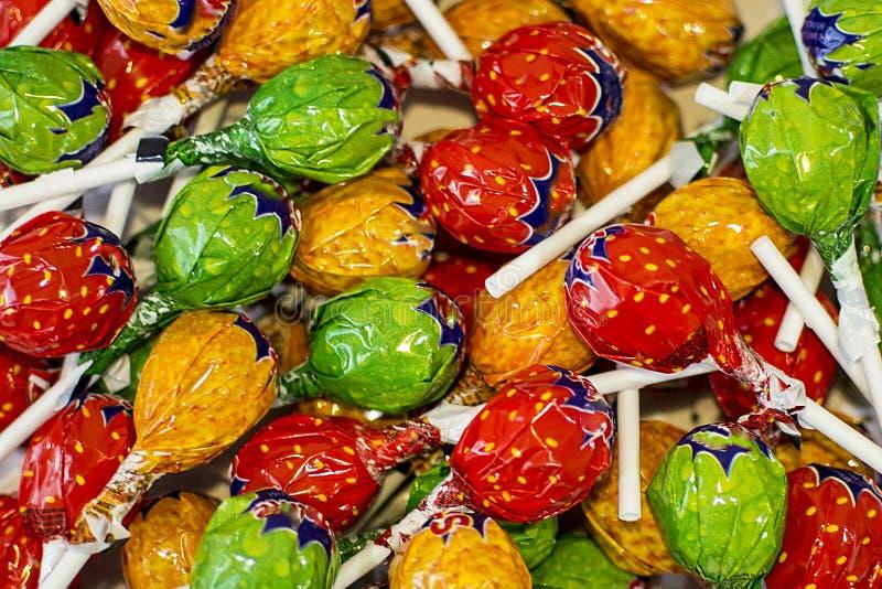 Di fondo colorato multi dolce della caramella fotografia stock libera da diritti