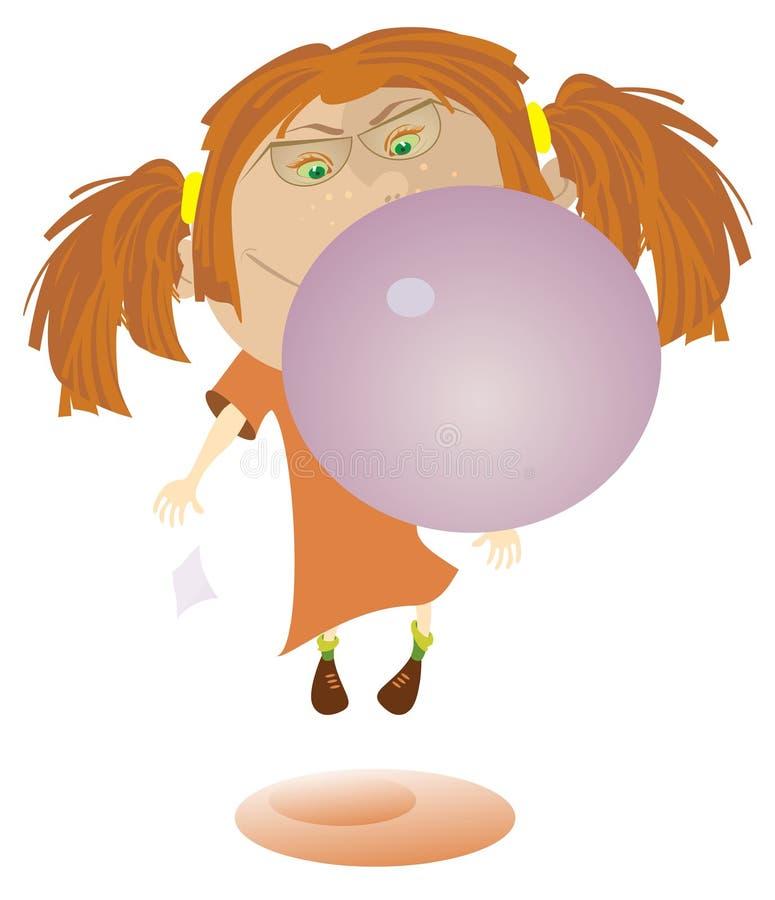 Di gomma da masticare e della ragazza royalty illustrazione gratis