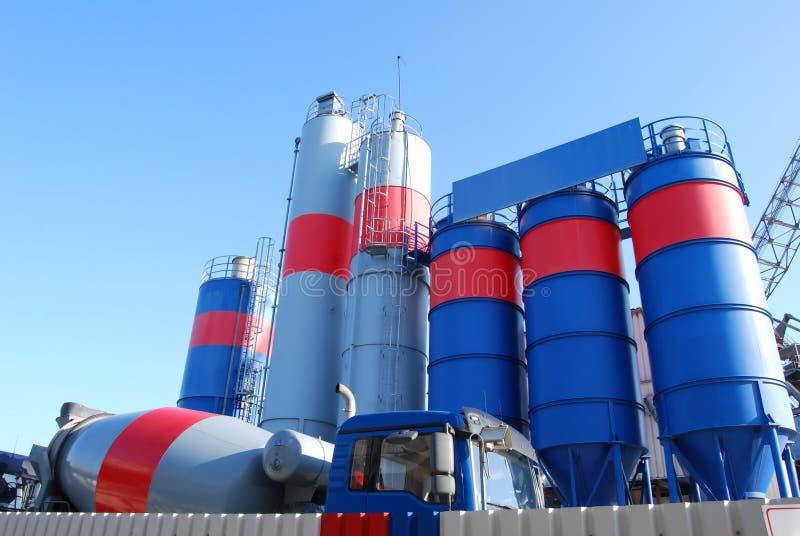 Di impianto di fabbricazione del cemento immagine stock libera da diritti
