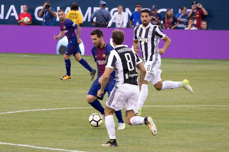 ` 2017 di Int l FC Barcelona della tazza di campioni contro Juventus fotografie stock libere da diritti