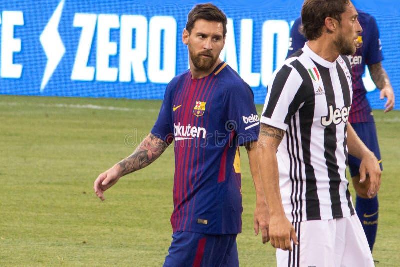 ` 2017 di Int l FC Barcelona della tazza di campioni contro Juventus immagine stock