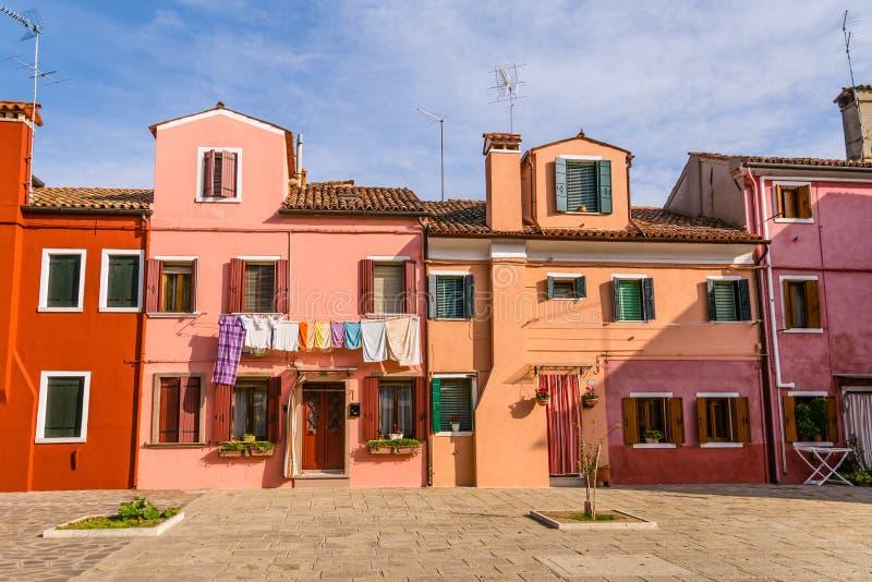 di isola colorata Multi di Burano delle case, Venezia, Italia fotografia stock