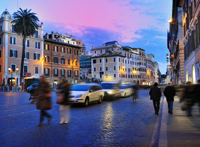 di Italy piazza Rome spagna zdjęcia royalty free