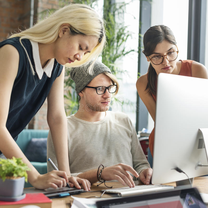 Di lavoro di squadra concetto professionale di occupazione insieme immagine stock