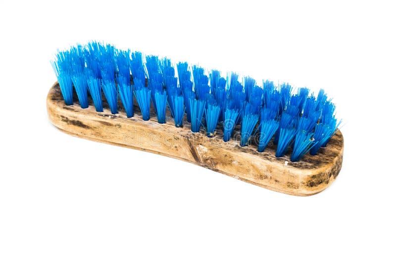 Di legno freghi la spazzola fotografia stock