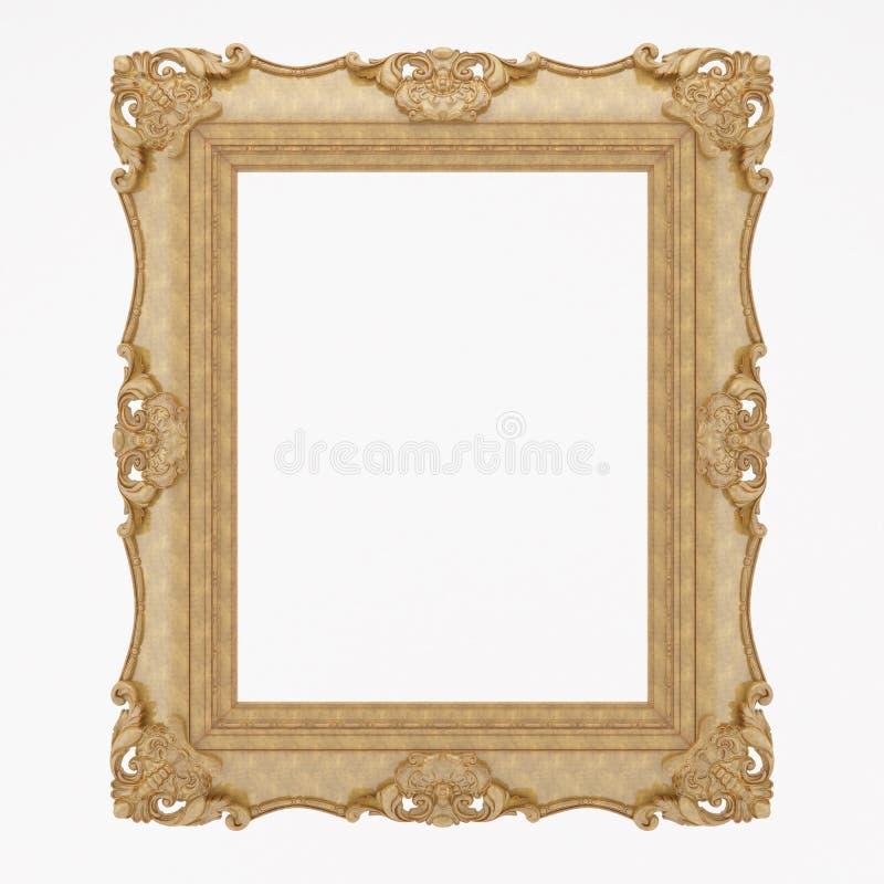 Di legno placcato oro immagini stock